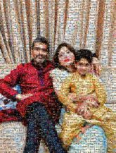 People Fun Sitting Family taking photos together Photography Daughter Child Happy Smile
