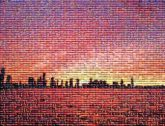 Red sky at morning Afterglow Horizon Skyline City Cityscape Sunset Dusk