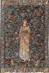 Tapestry Design Morris & Co. Flora I European Tapestry Art Adoration of the Magi Arts and Crafts movement Textile The Flora Belgian Wall Tapestry Miniature History Prophet Painting Mythology Visual arts Mosaic
