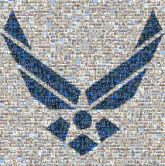 United States Air Force Symbol United States Air Force United States Air Force Academy Air force Wright-Patterson Air Force Base Military Air Force Materiel Command Air Mobility Command Symbol Cobalt blue Clip art Line Electric blue Logo Graphics Symmetry Emblem
