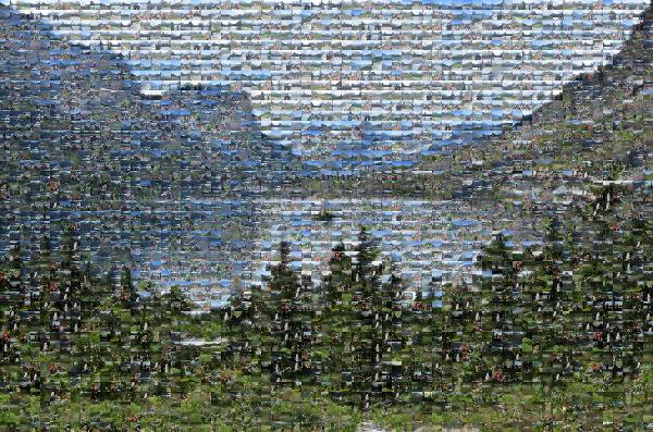 Glacier National Park photo mosaic
