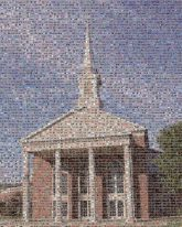 Steeple Building Landmark Architecture Church Place of worship Chapel Sky Classical architecture House