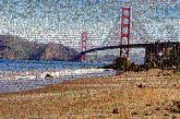 Body of water Coastal and oceanic landforms Bridge Coast Cable-stayed bridge Shore Suspension bridge Water Sand Beach