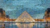 Pyramid Reflection Landmark Triangle Evening Tourist attraction Symmetry Monument Reflecting pool