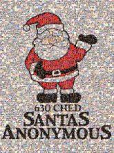 Santas Depot - 630 CHED Santas Anonymous Santas Anonymous Clip art Graphic design Illustration Santa claus Cartoon Fictional character Line Graphics Christmas Pleased