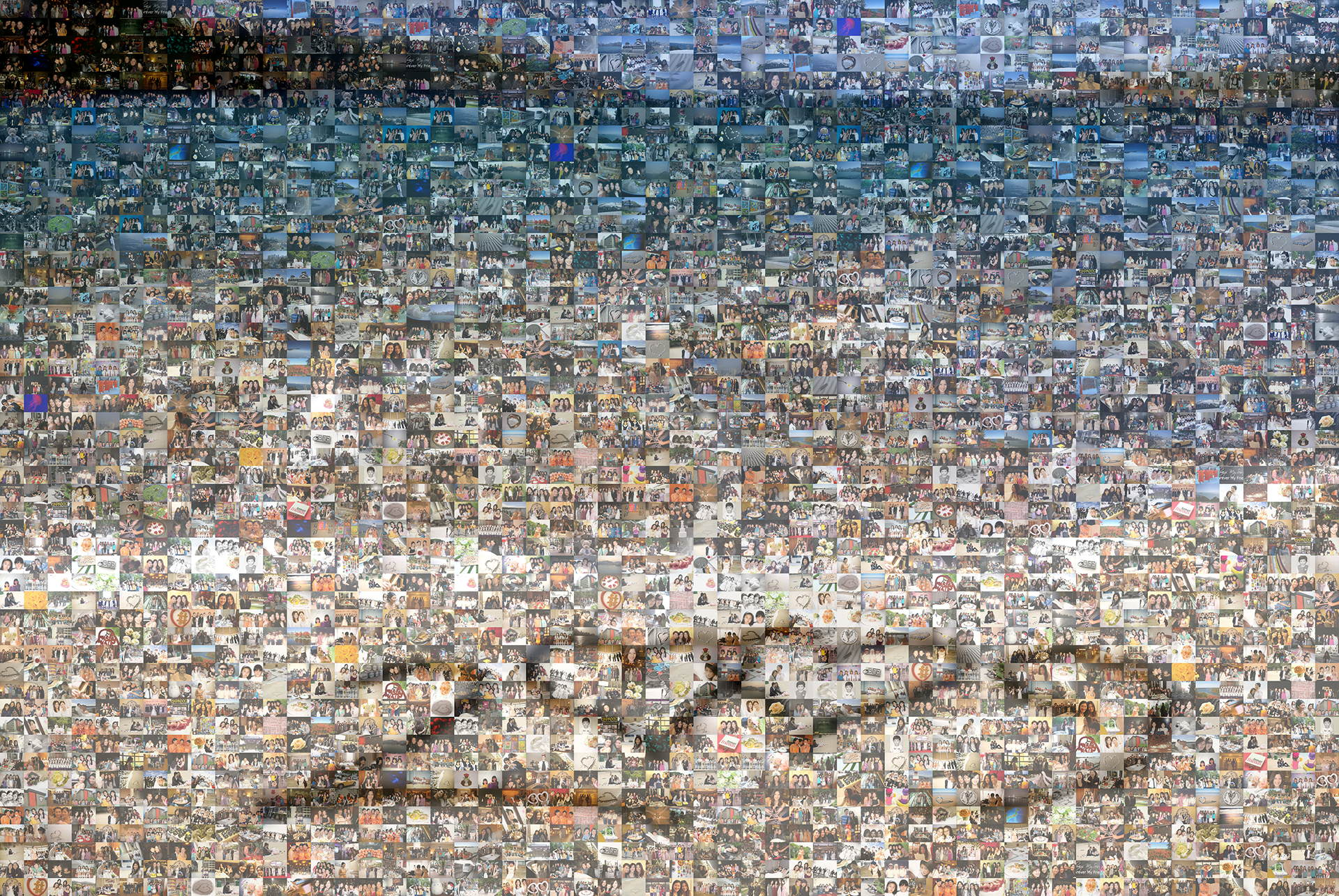 photo mosaic created using 195 user submitted photos