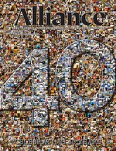 created using 403 images through out the 40 years of Alliance Magazine