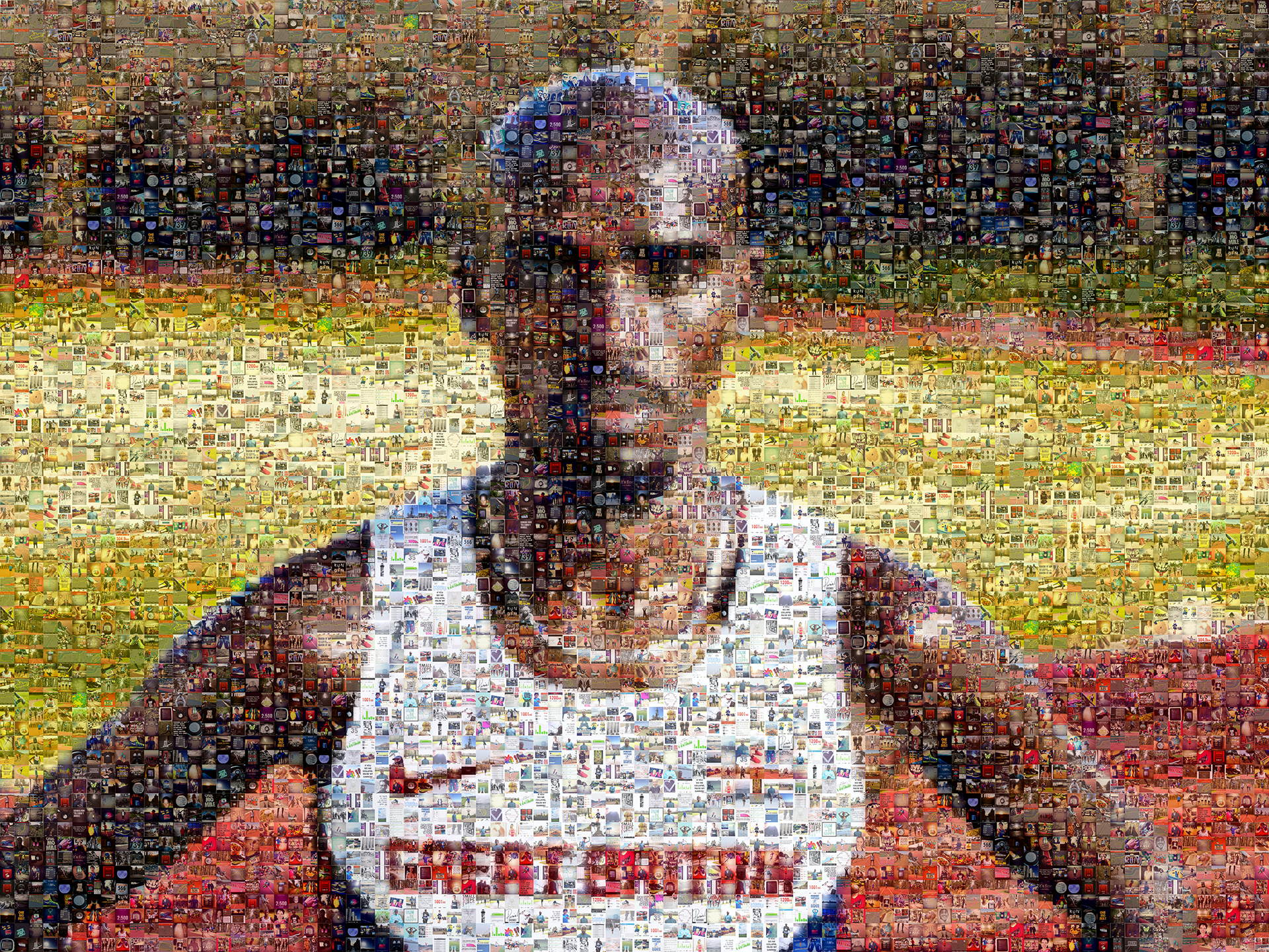 photo mosaic created using fan submitted running photos