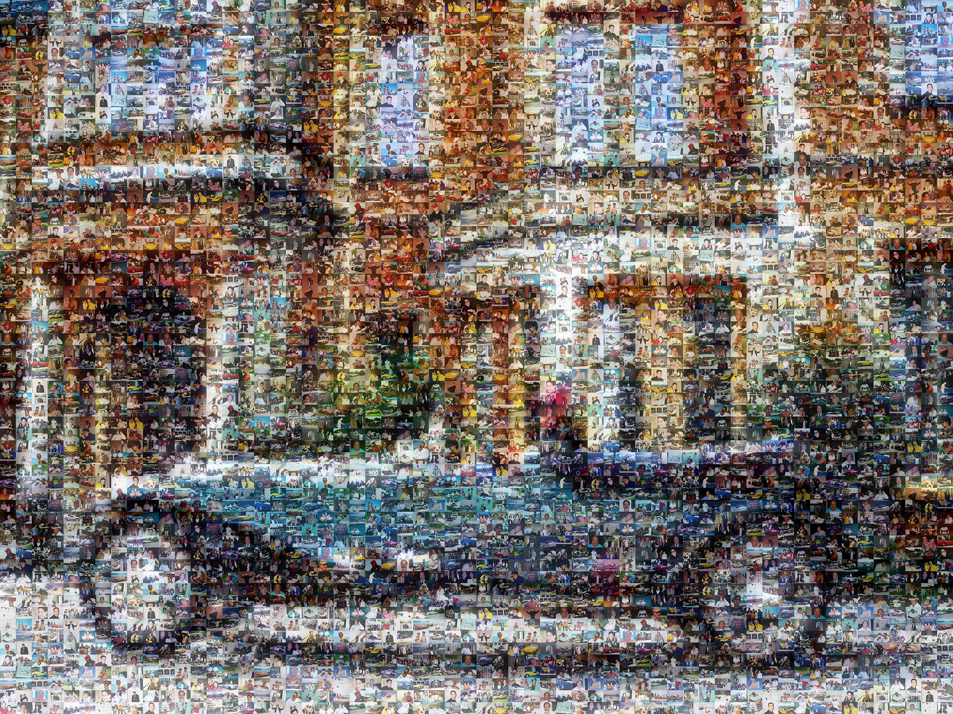 photo mosaic created using 308 family taken photos