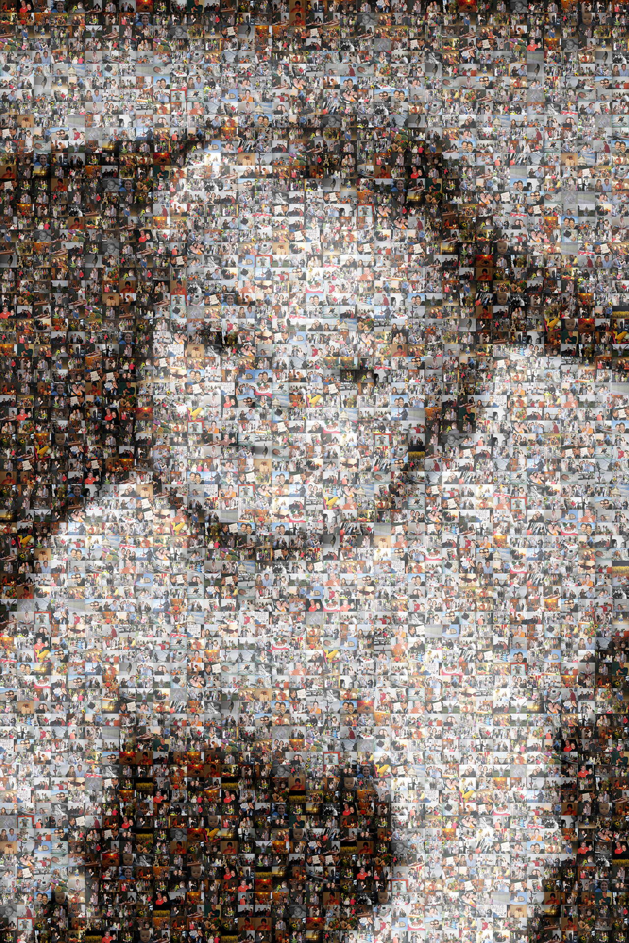 photo mosaic created using 200 customer selected photos