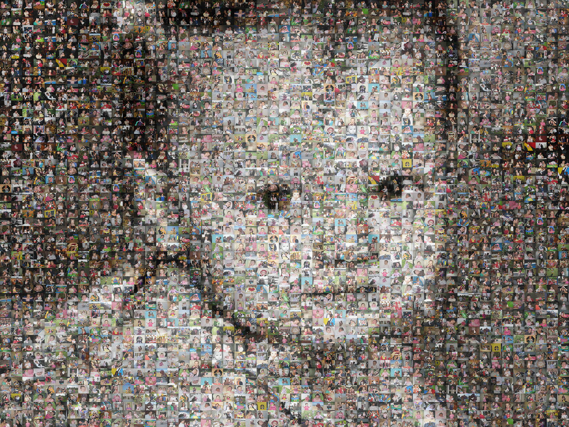 photo mosaic created using 704 customer selected photos