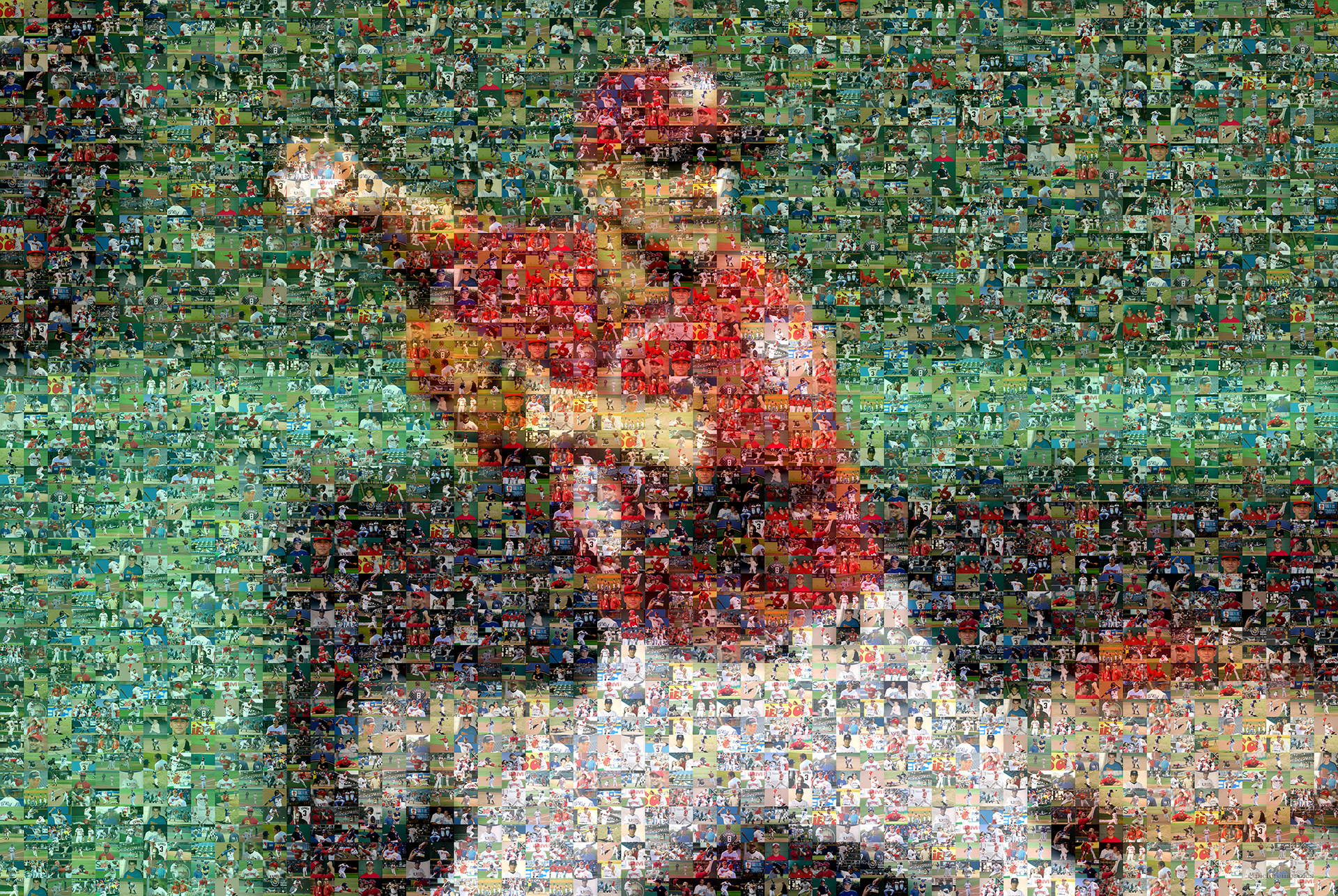 photo mosaic created using 161 baseball photos