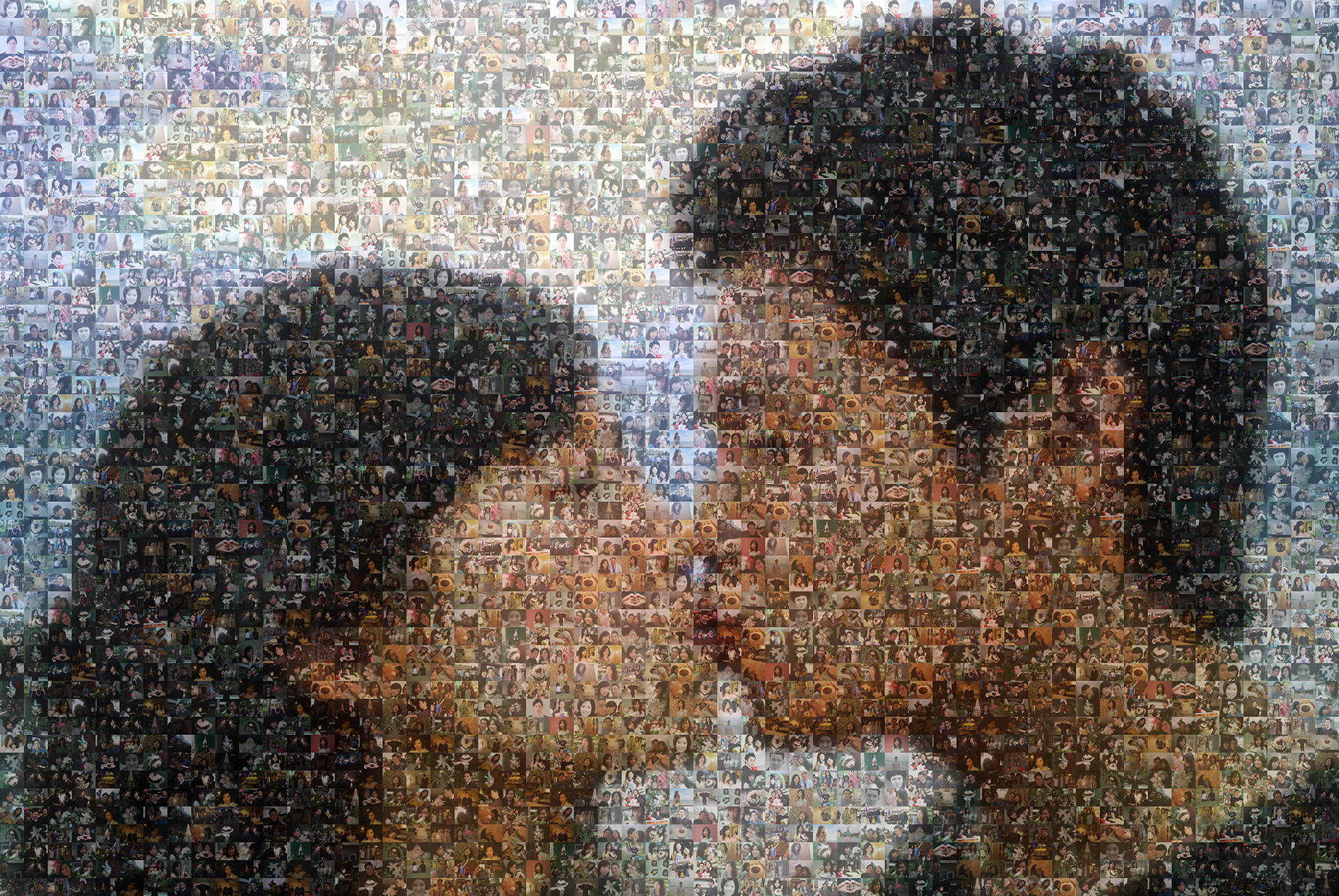 photo mosaic created using only 178 customer selected photos