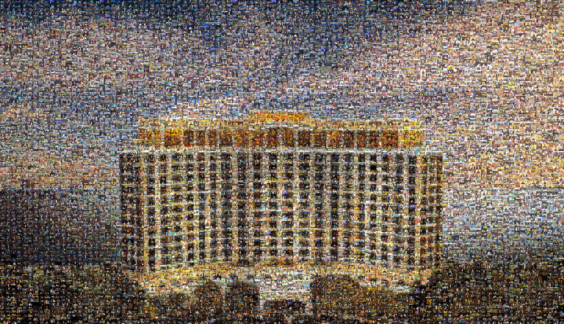 photo mosaic 1300 cells were used to create this stunning mural of the Beau Rivage Resort & Casino