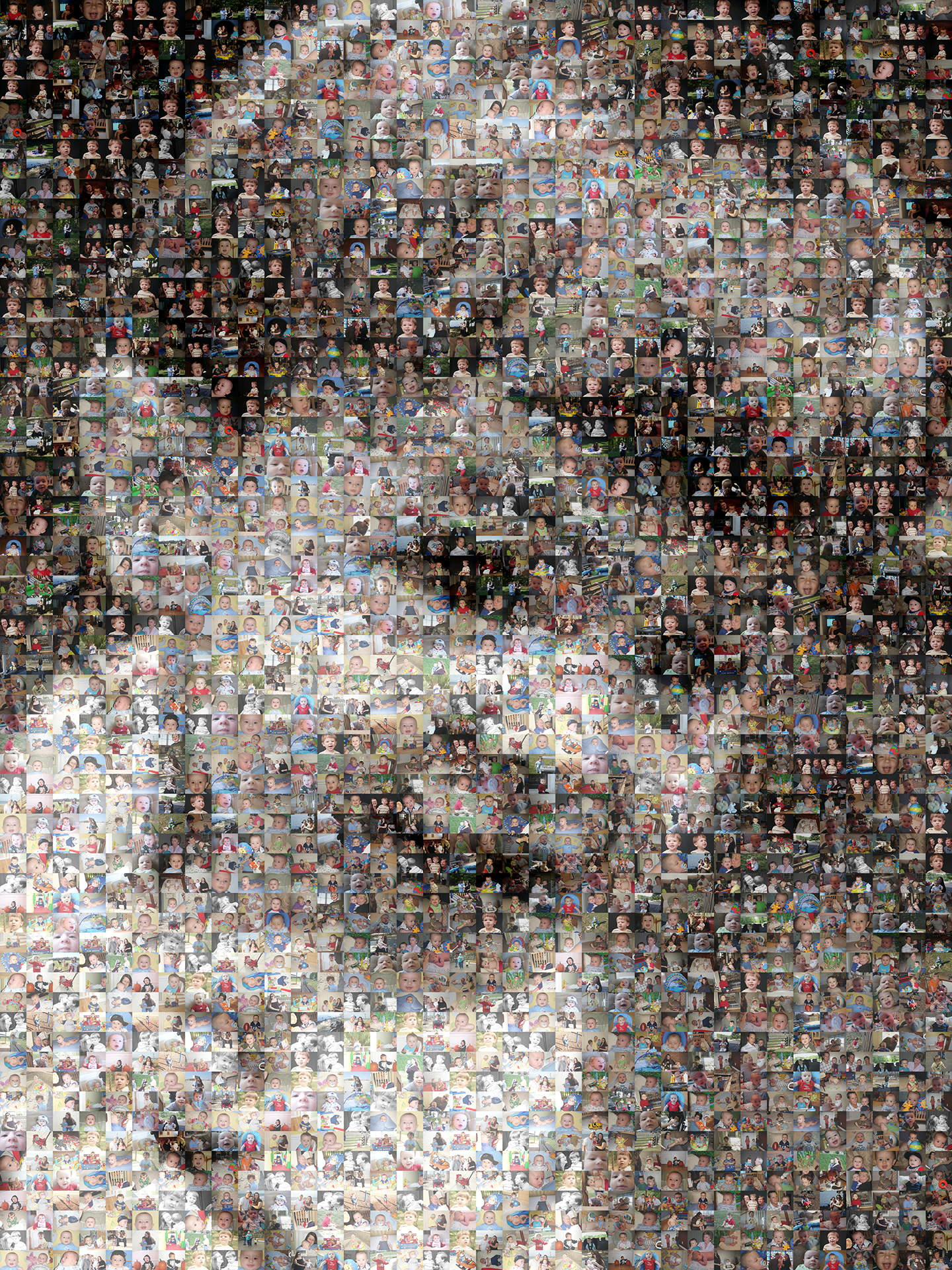 photo mosaic created using 392 customer selected photos