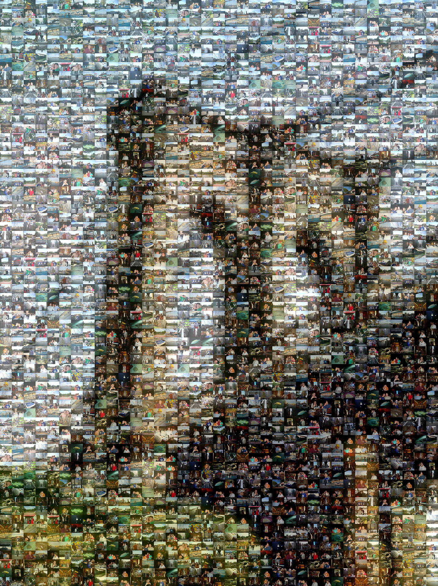 photo mosaic created using 196 user submitted photos