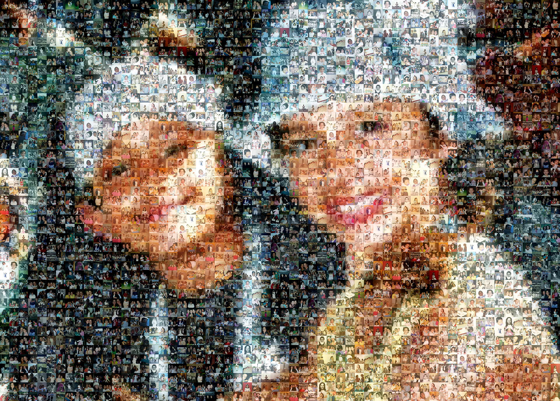 photo mosaic created using 484 customer selected photos