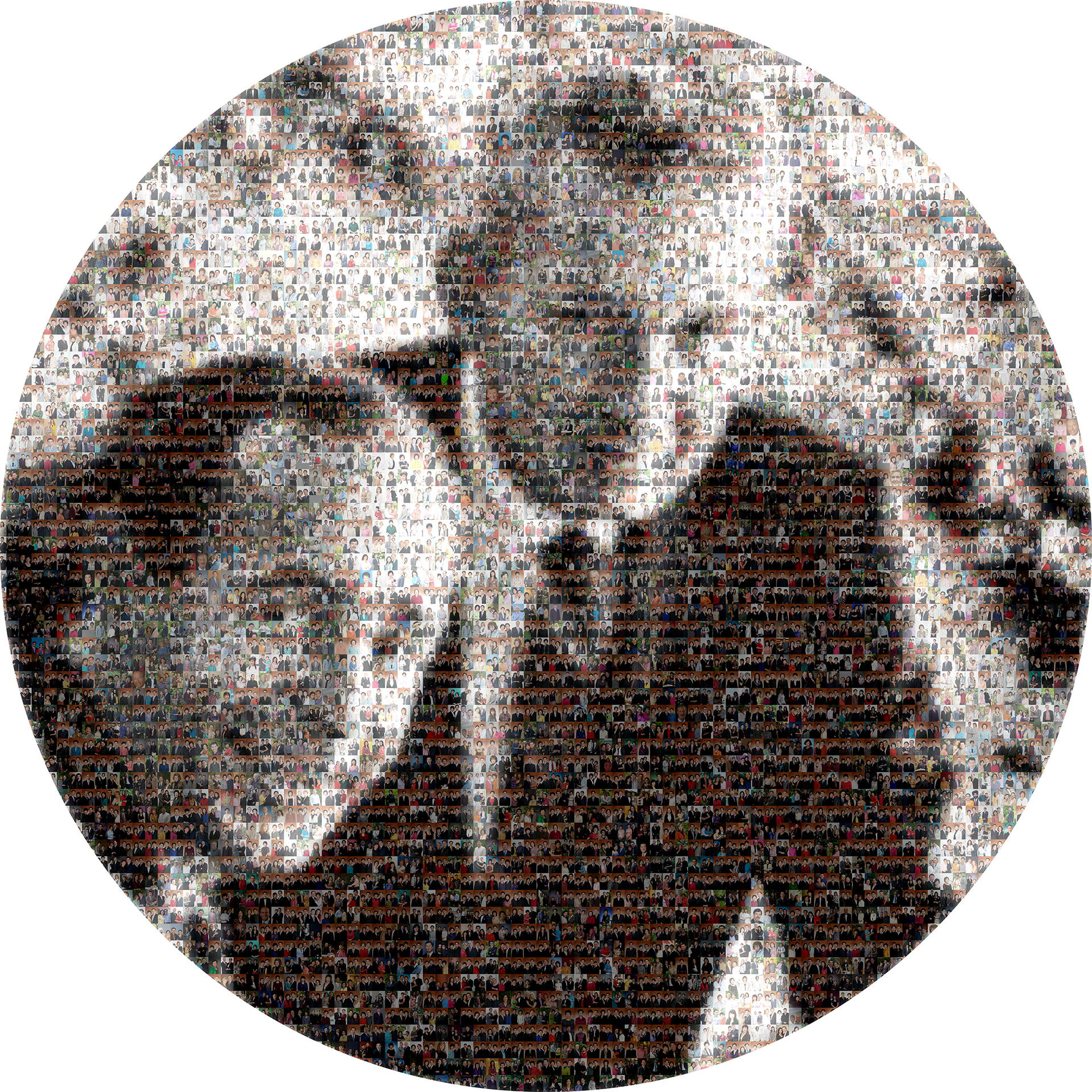 photo mosaic created using 1940 corporate worker selected photos