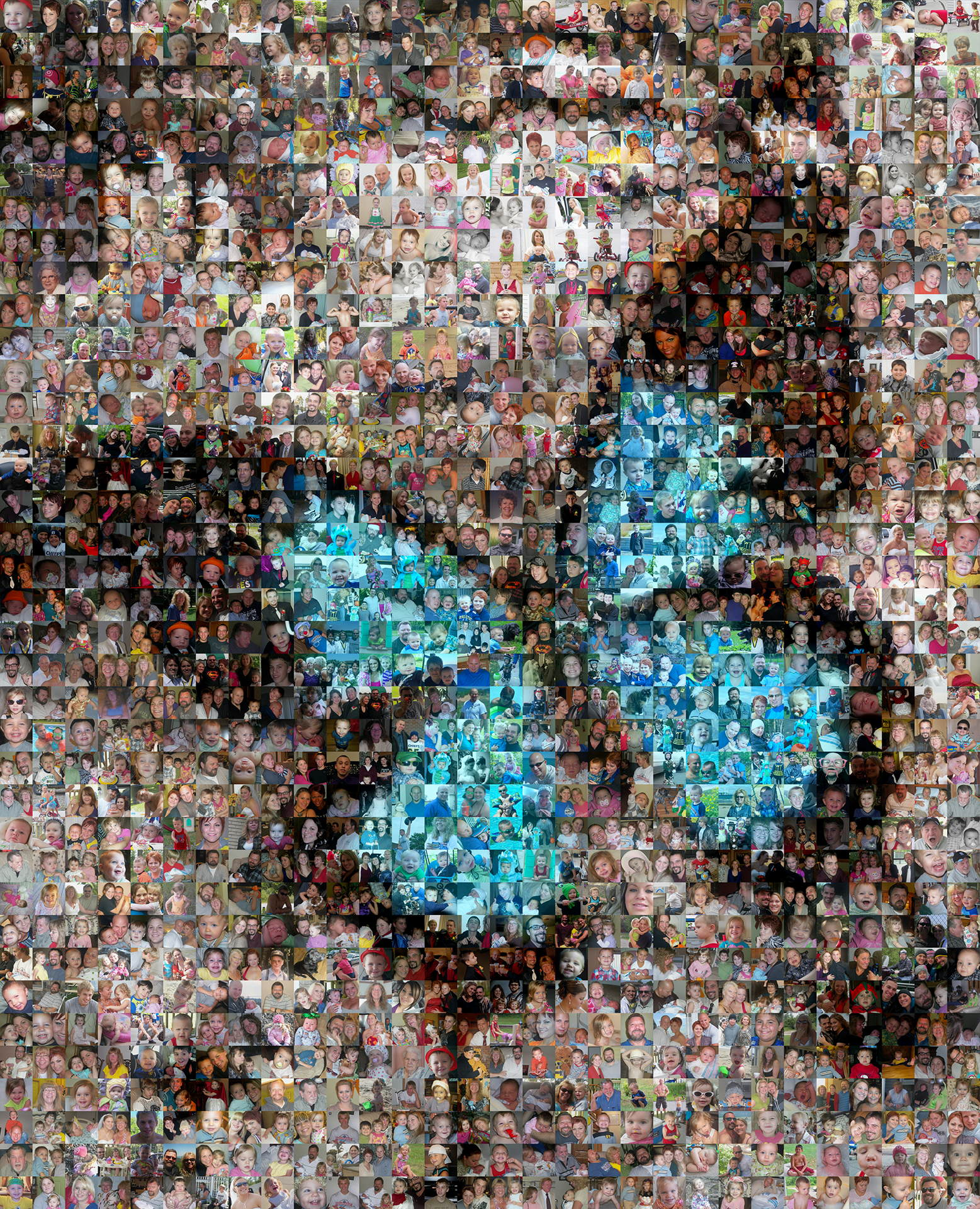 photo mosaic this butterfly was created using 1679 family photos