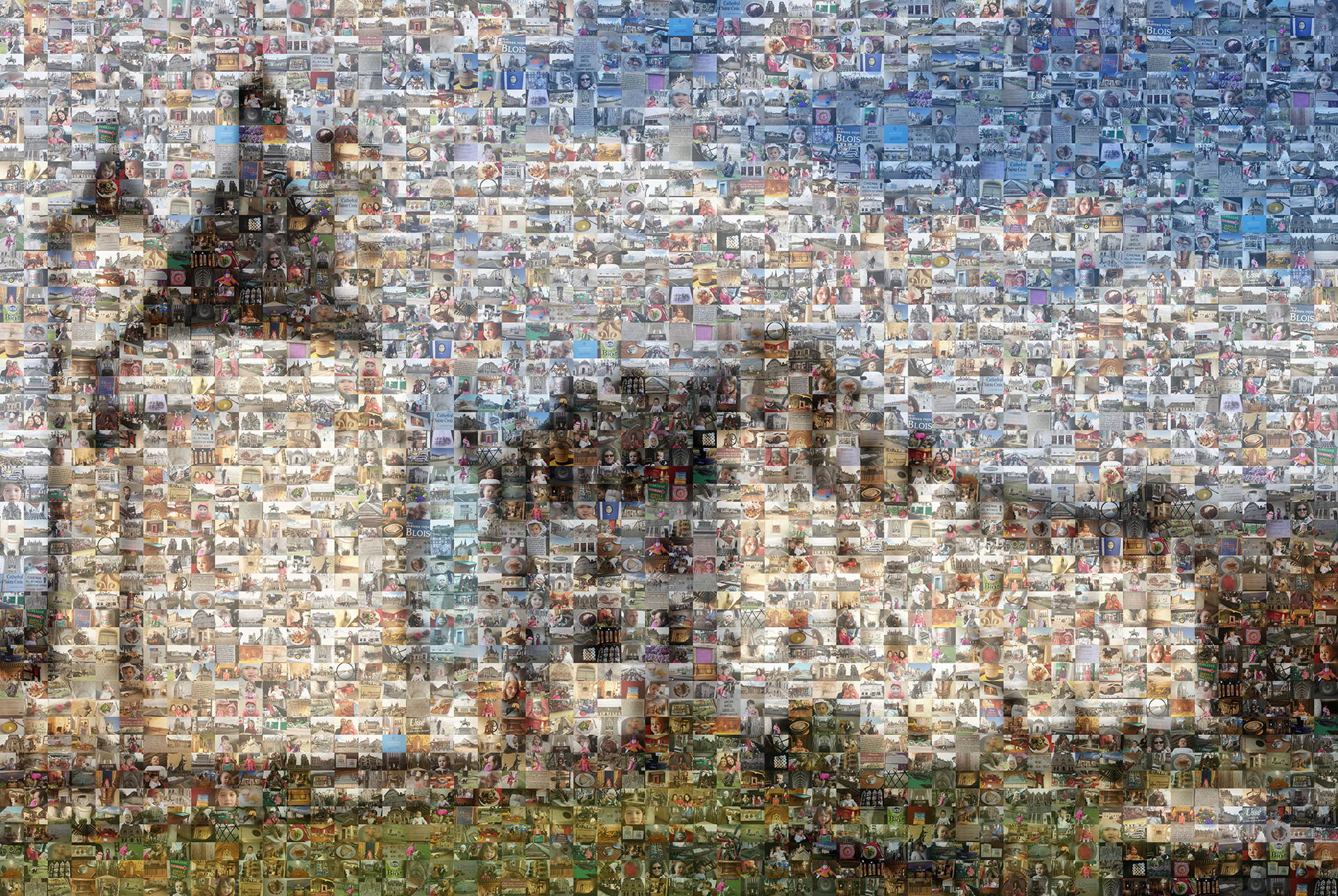 photo mosaic created using 456 family vacation photos