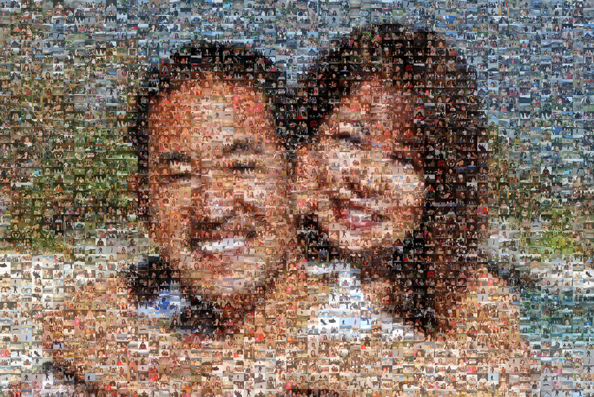 photo mosaic created using 623 user submitted photos