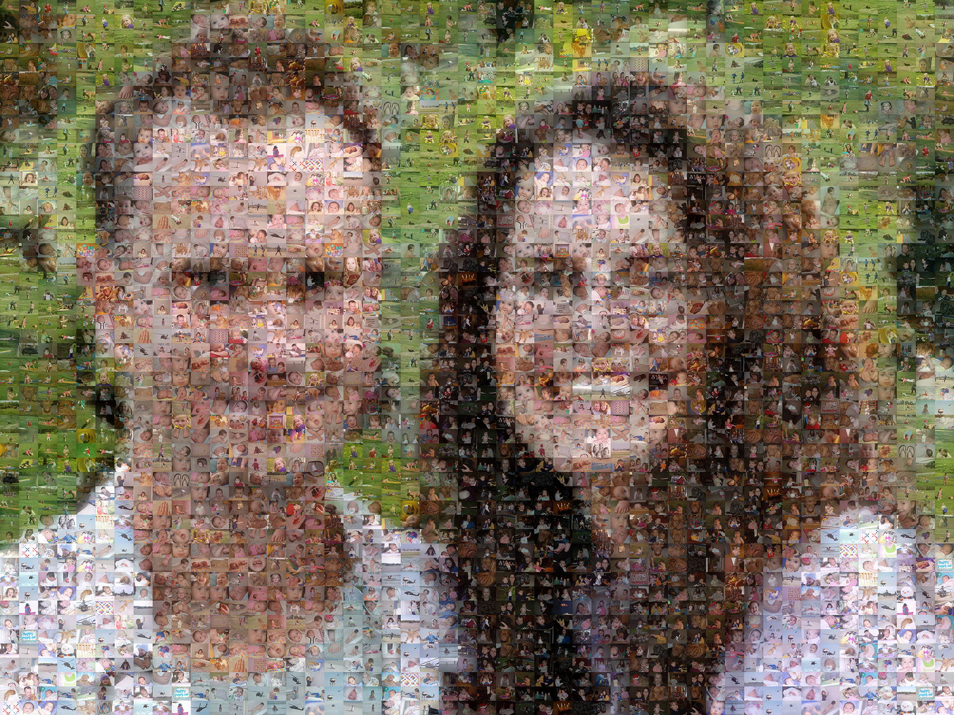 photo mosaic created using over 2400 customer selected photos