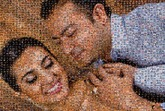 created using 186 photos of this loving couple