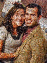 this scatter style was made using 1,560 photos of the couple since they first met