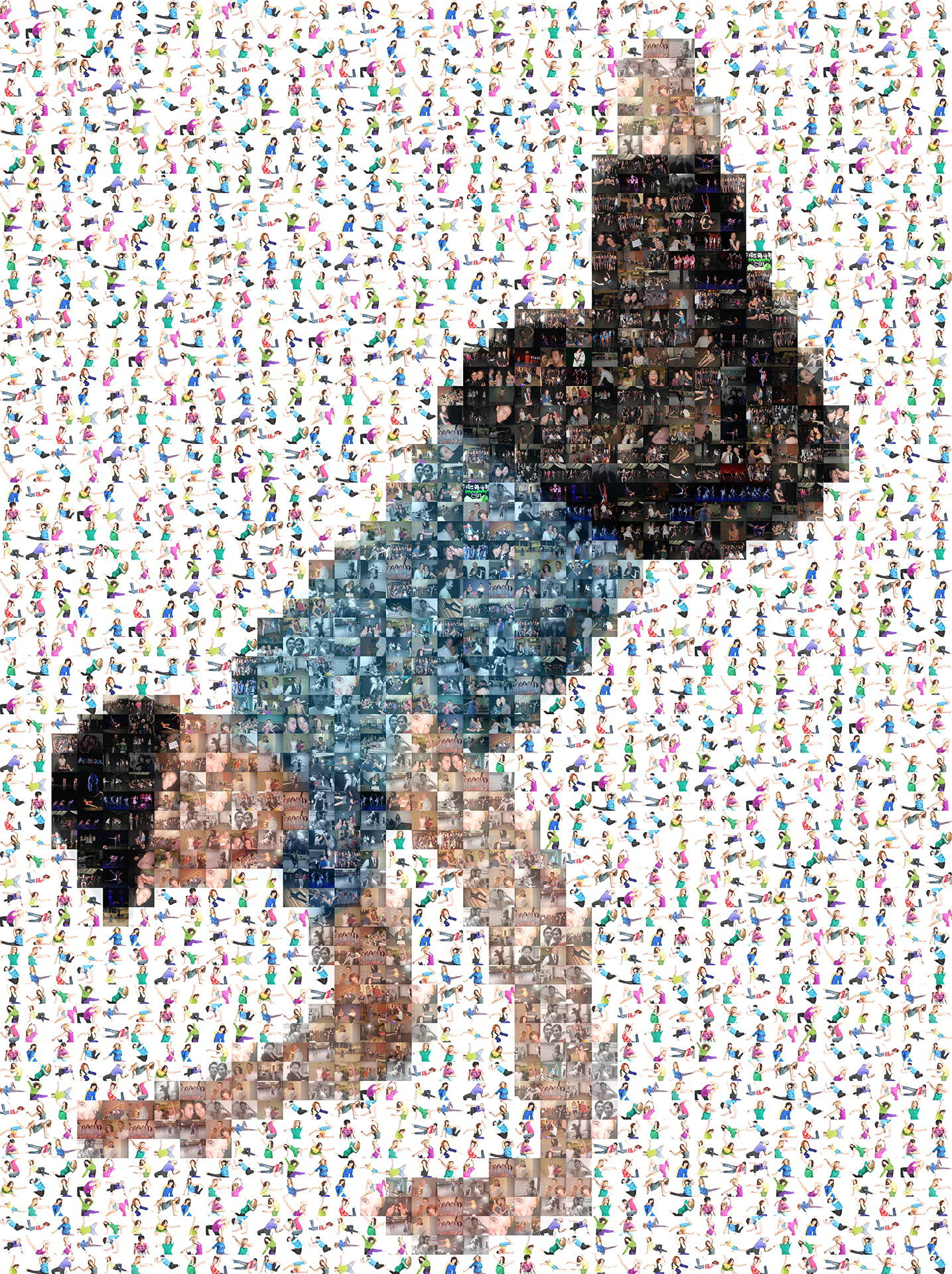 photo mosaic created using 303 photos of dancers