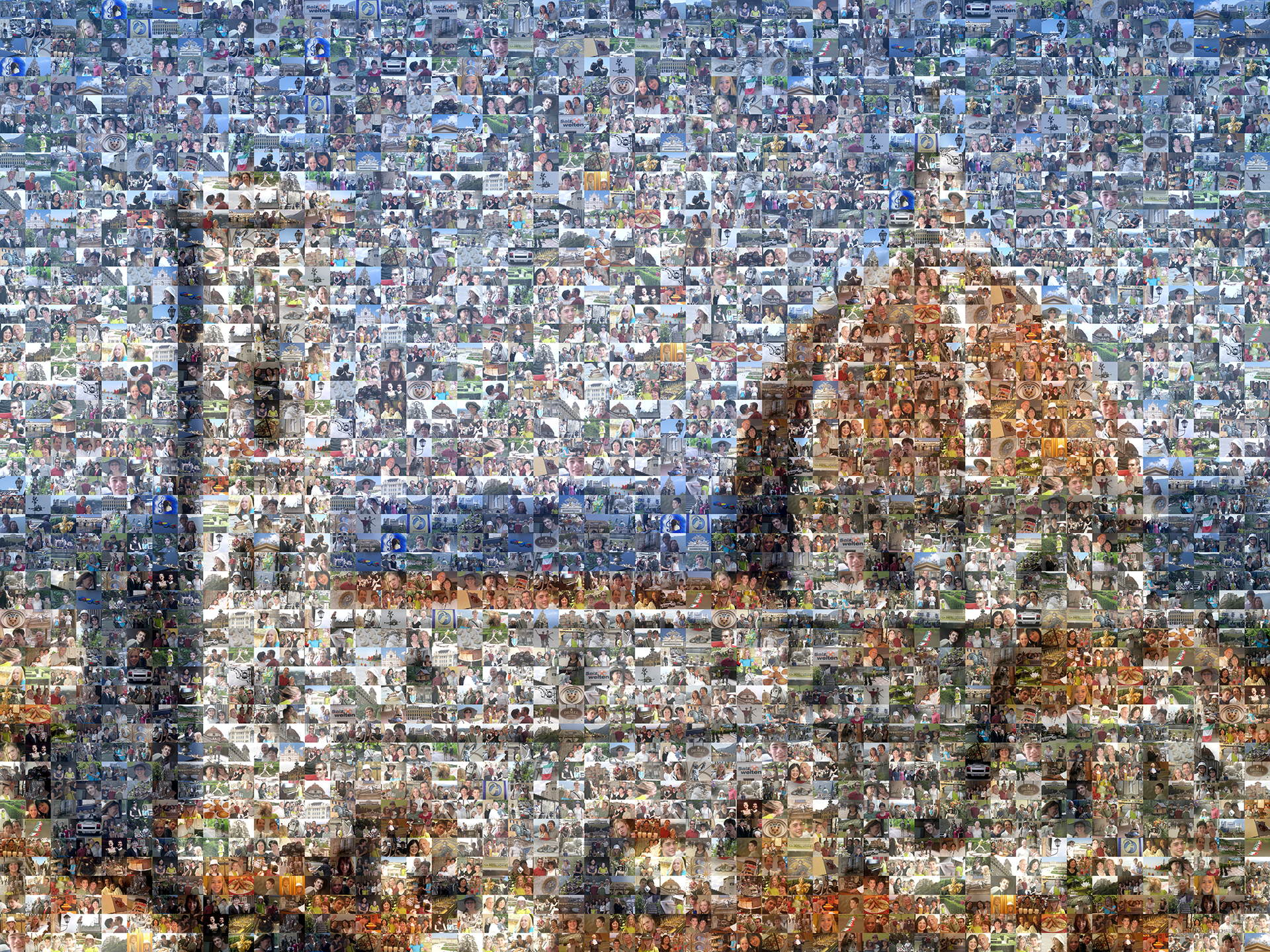 photo mosaic 284 vacation photos