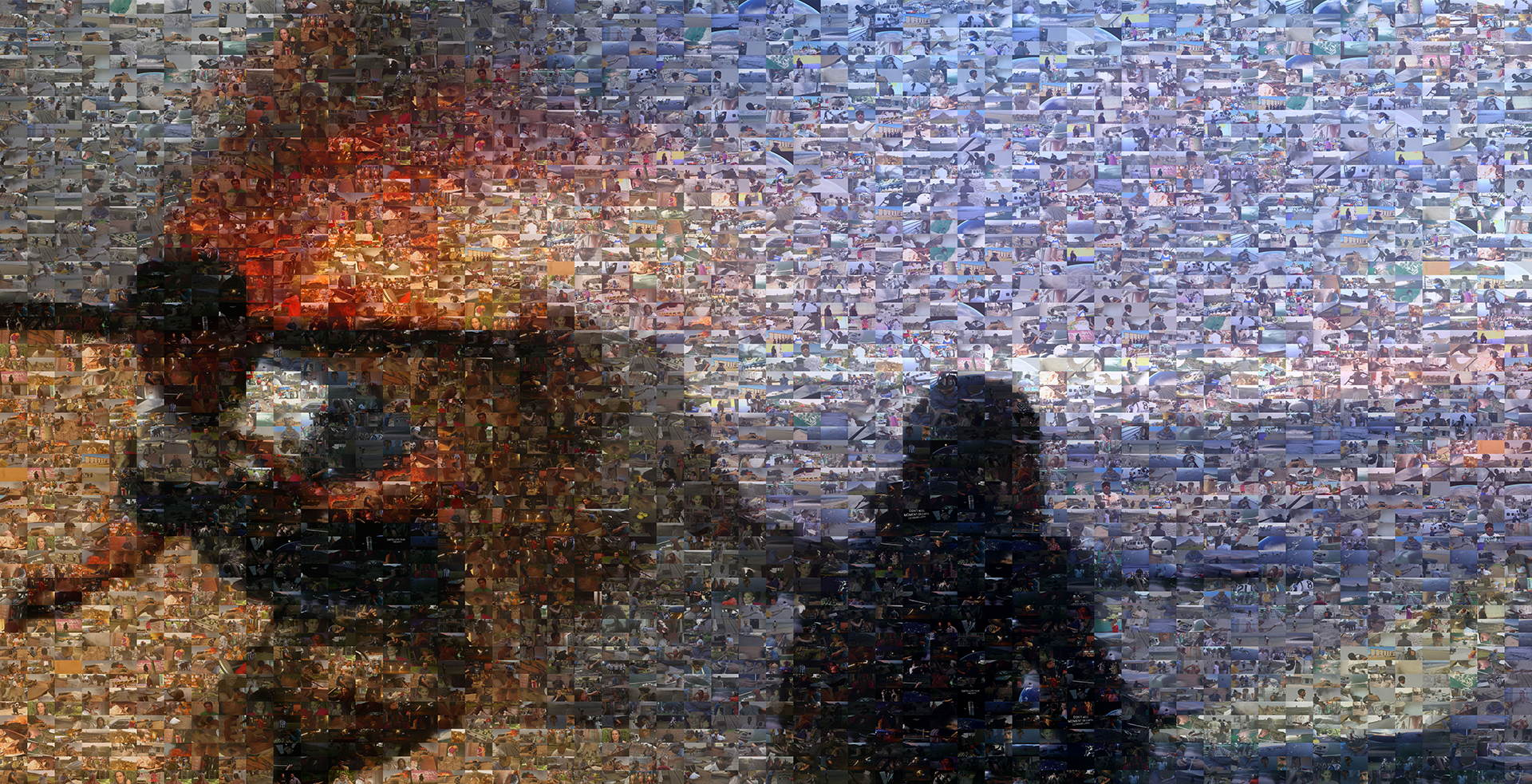 photo mosaic created using over 1000 various still images from the movie