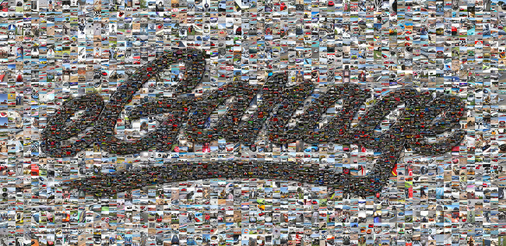 photo mosaic a collection of over 6700 automobiles make up this eGarage mosaic mural