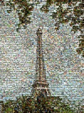 this Eiffel Tower was created using 1327 vacation photos