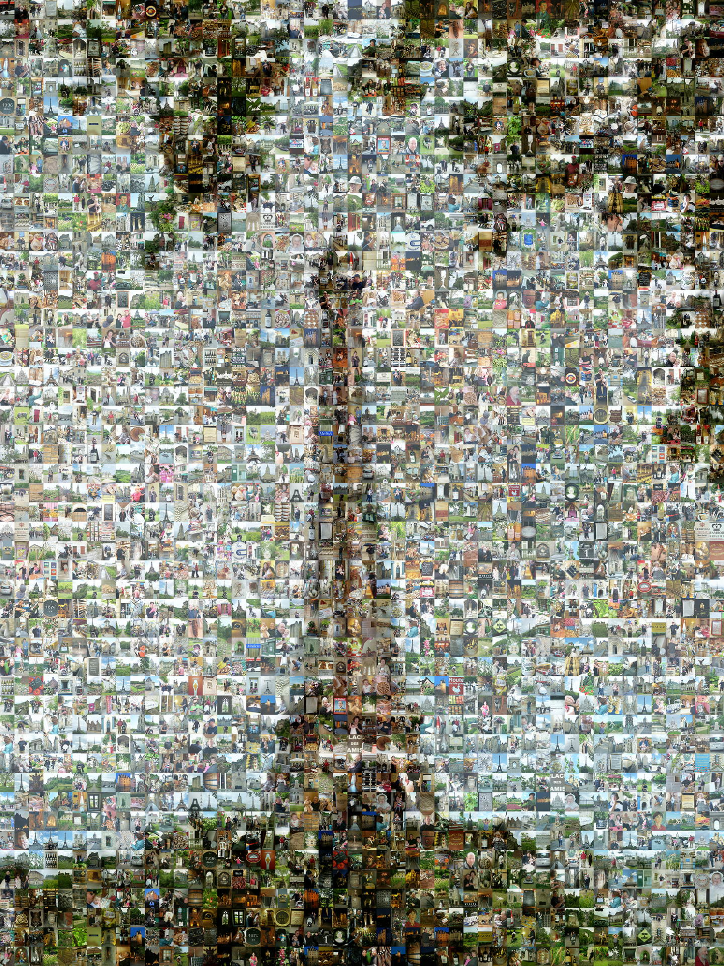 photo mosaic this Eiffel Tower was created using 1327 vacation photos