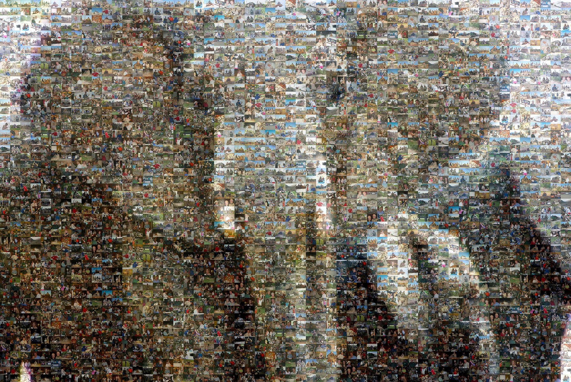 photo mosaic created using 401 hunting photos