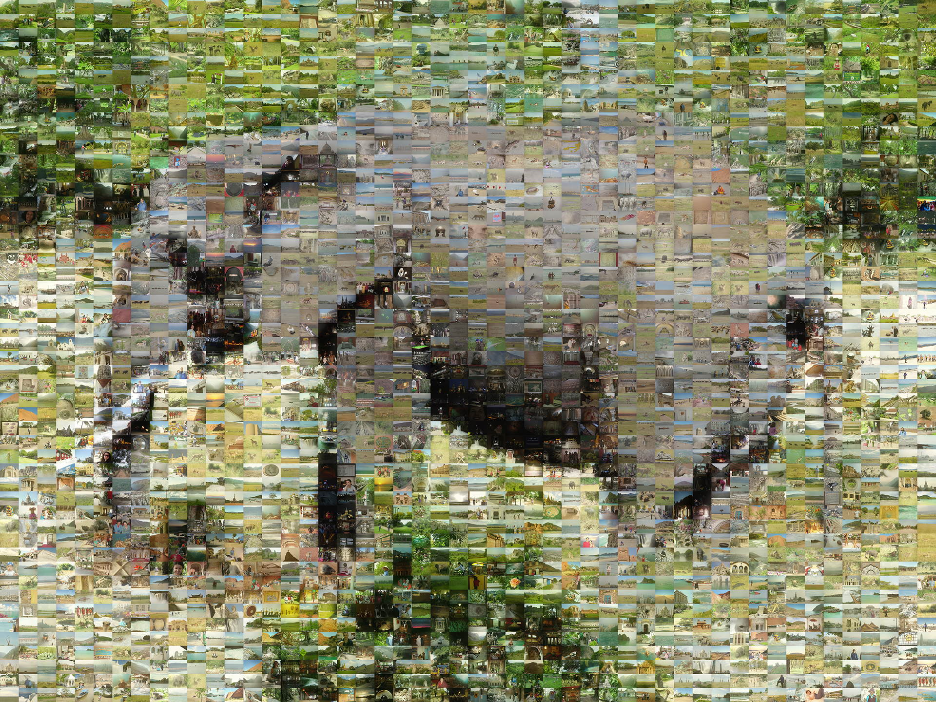 photo mosaic an image of an elephant using 2500 unique photos