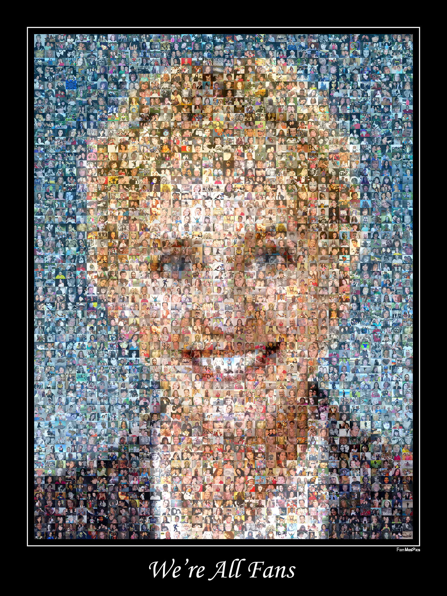 photo mosaic created using almost 2,000 fan photos