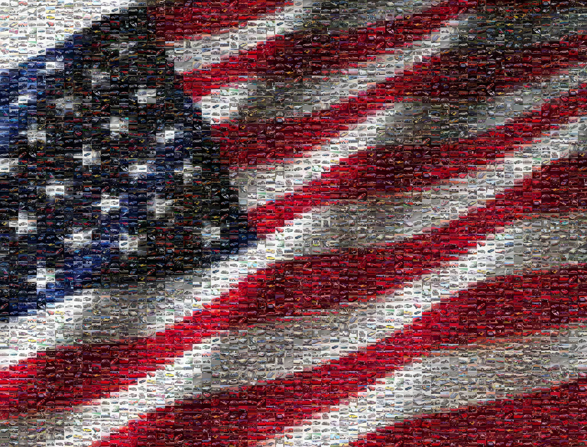 Picture Mosaics Us Flag Made From American Cars Photo Mosaic