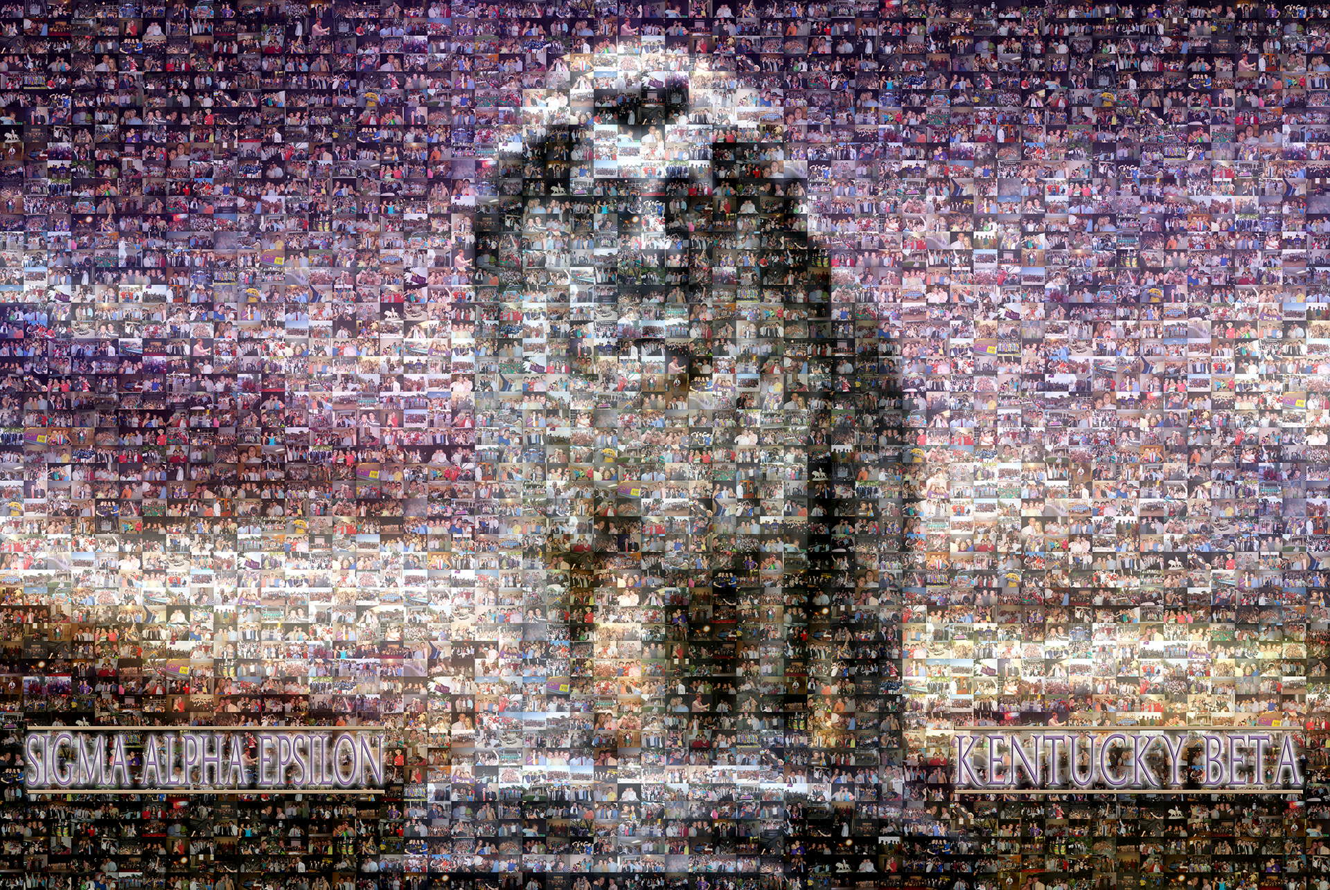 photo mosaic fraternity graduation gift created using 326 college life photos