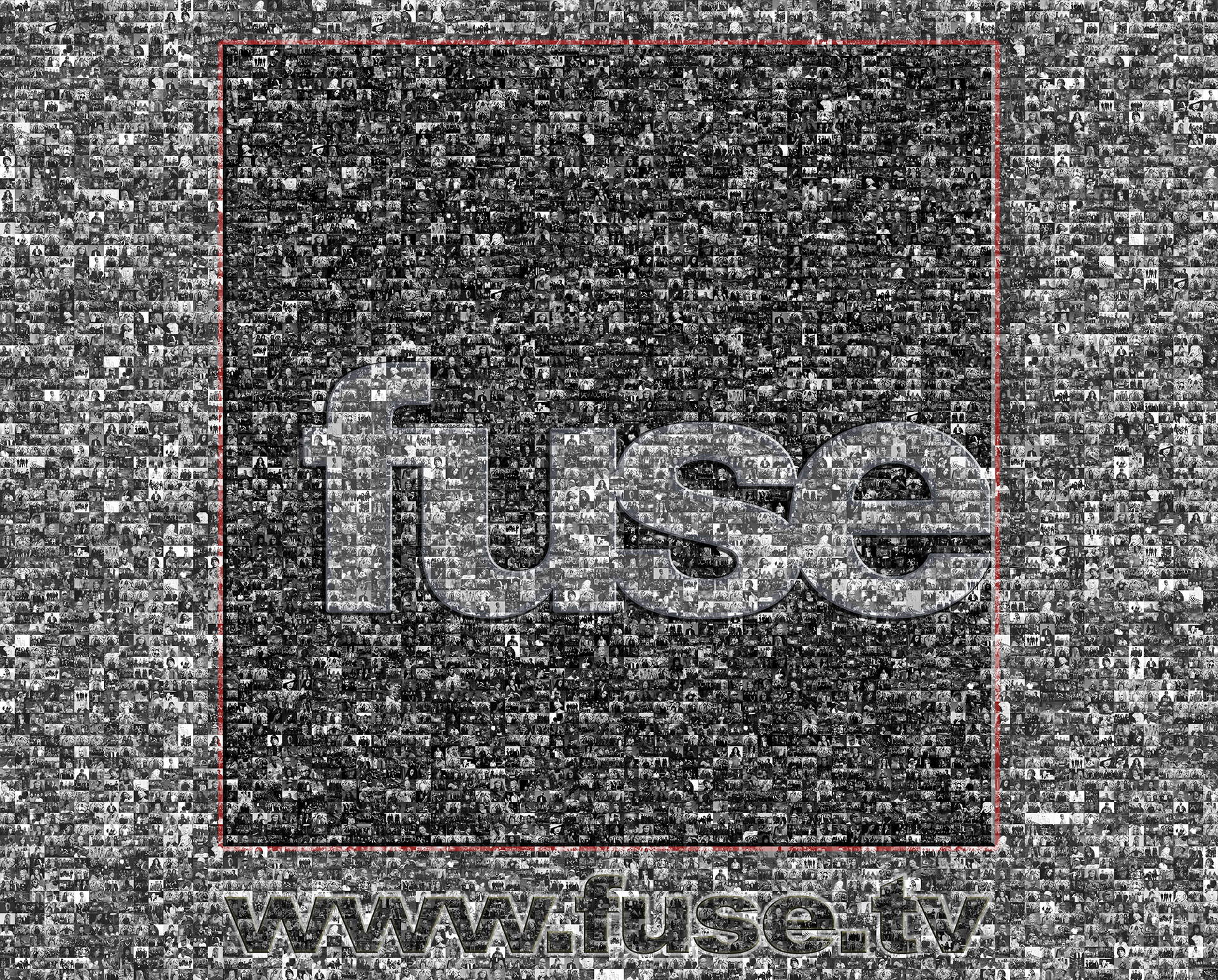 photo mosaic This 8ft x 10ft banner was created photos using thousands of photos from musical artist appearances on FuseTV.
