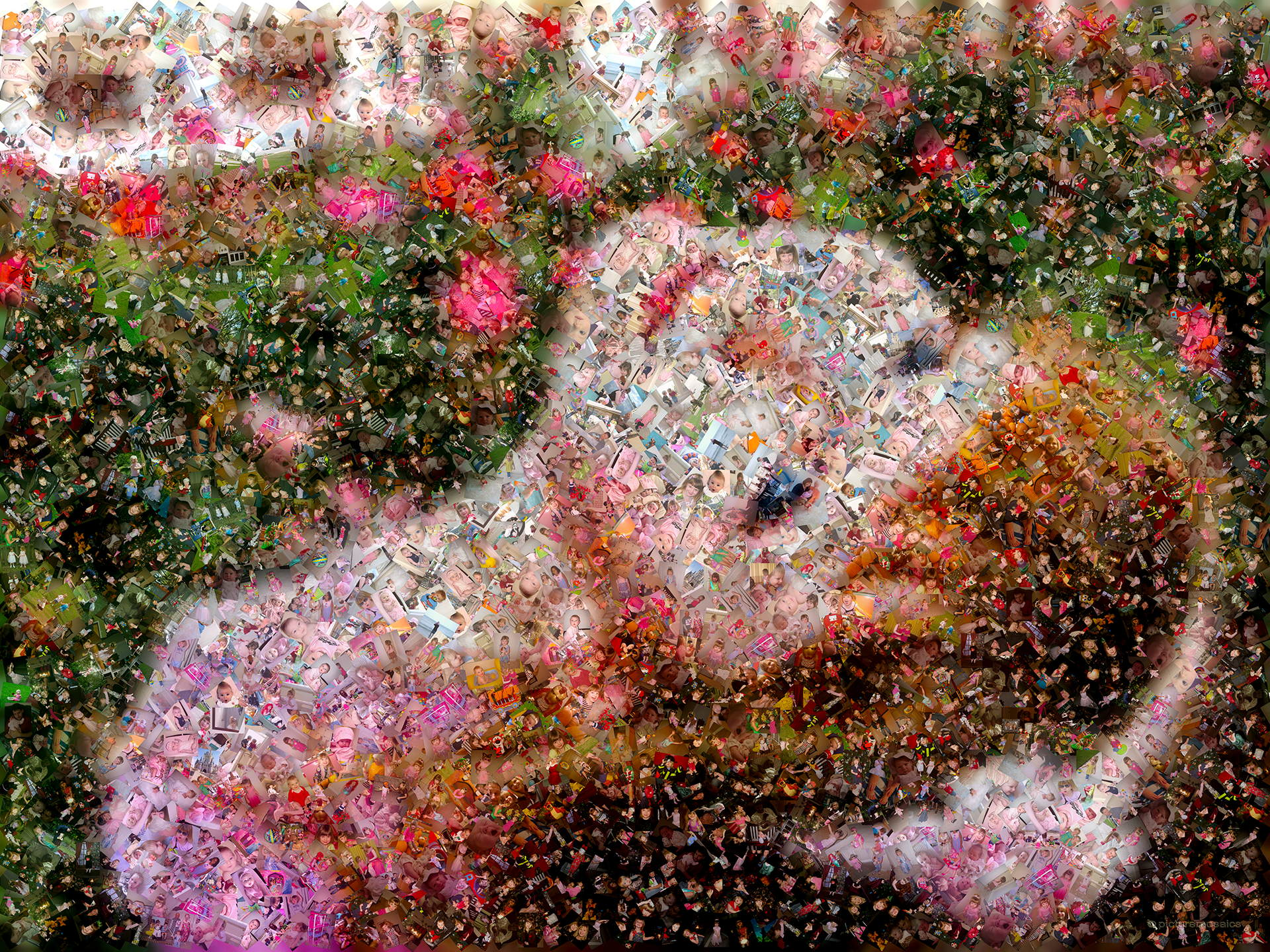 photo mosaic created using 926 customer selected photos