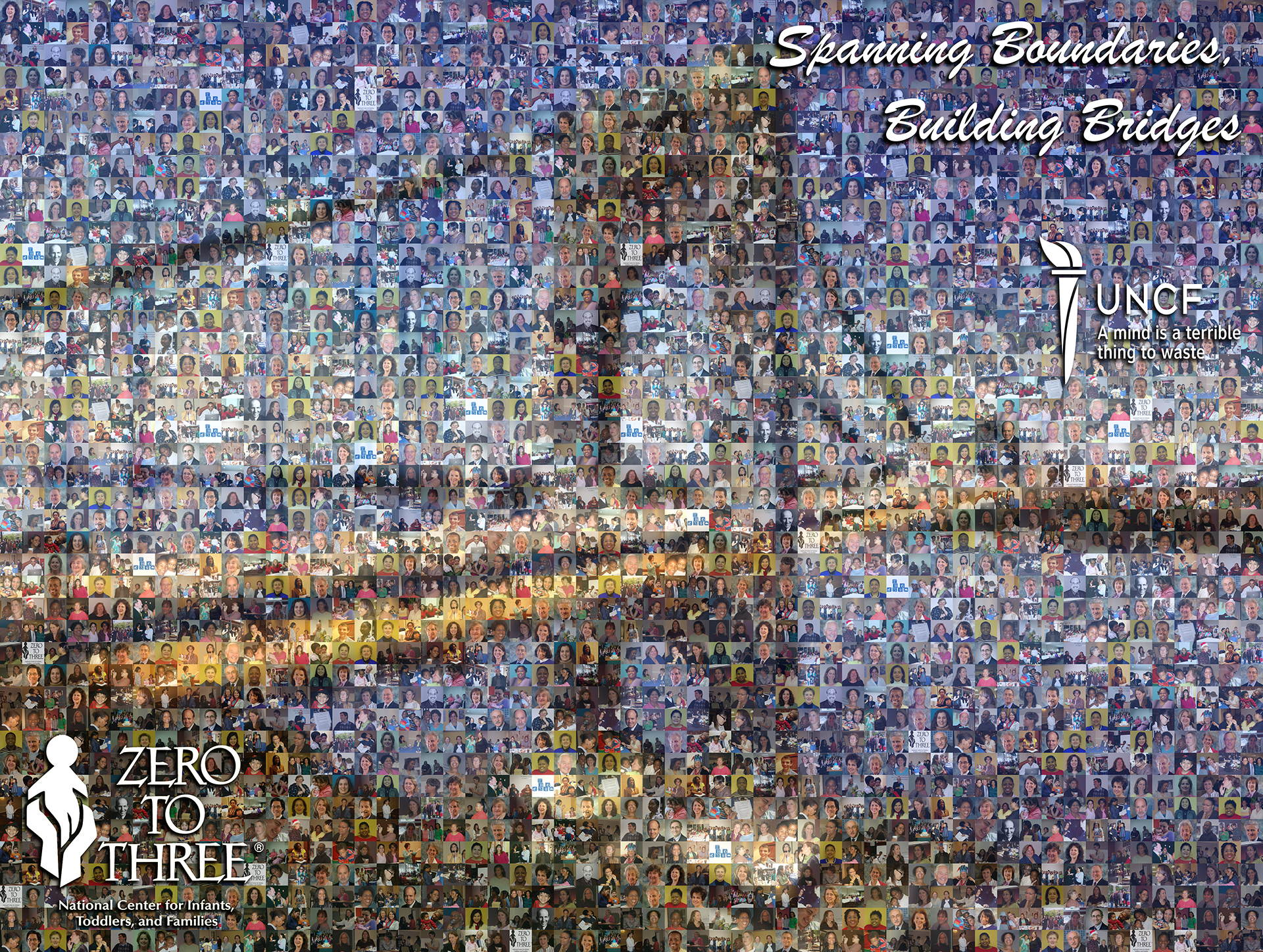 photo mosaic created using 190 employee photos