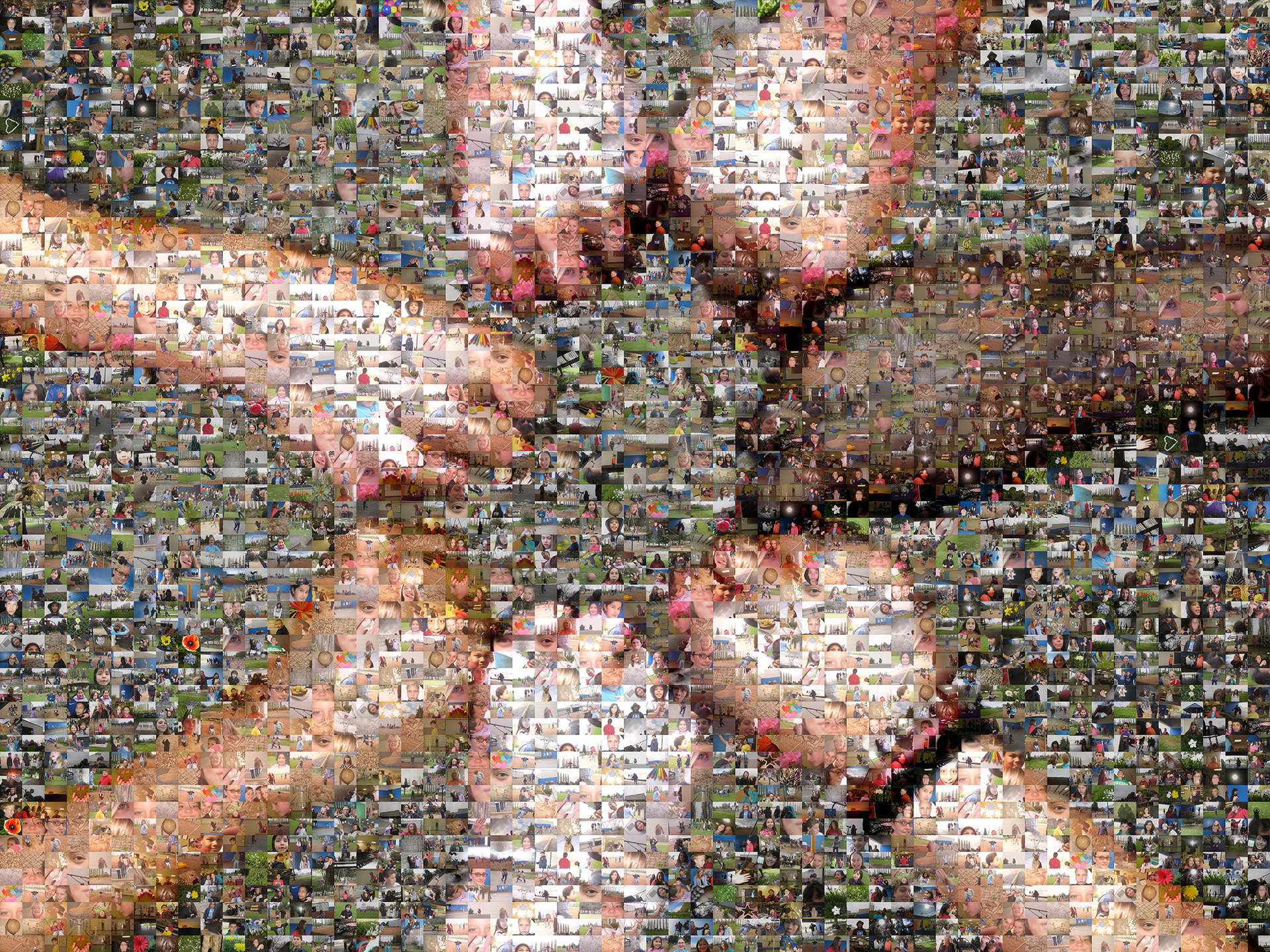 photo mosaic a school project using 872 photos taken by the students