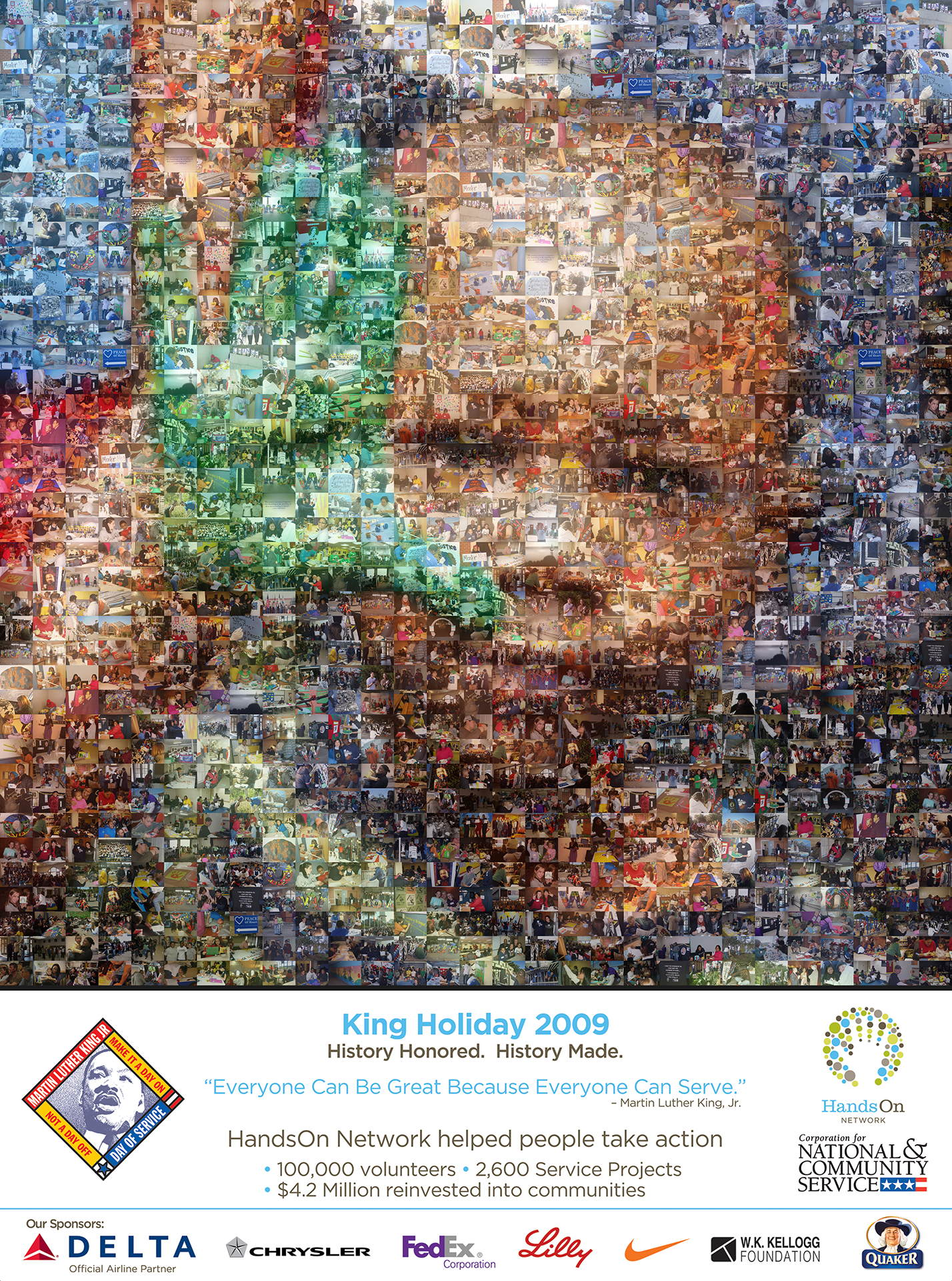 photo mosaic This banner was created for MLK day 2009 using 294 photos
