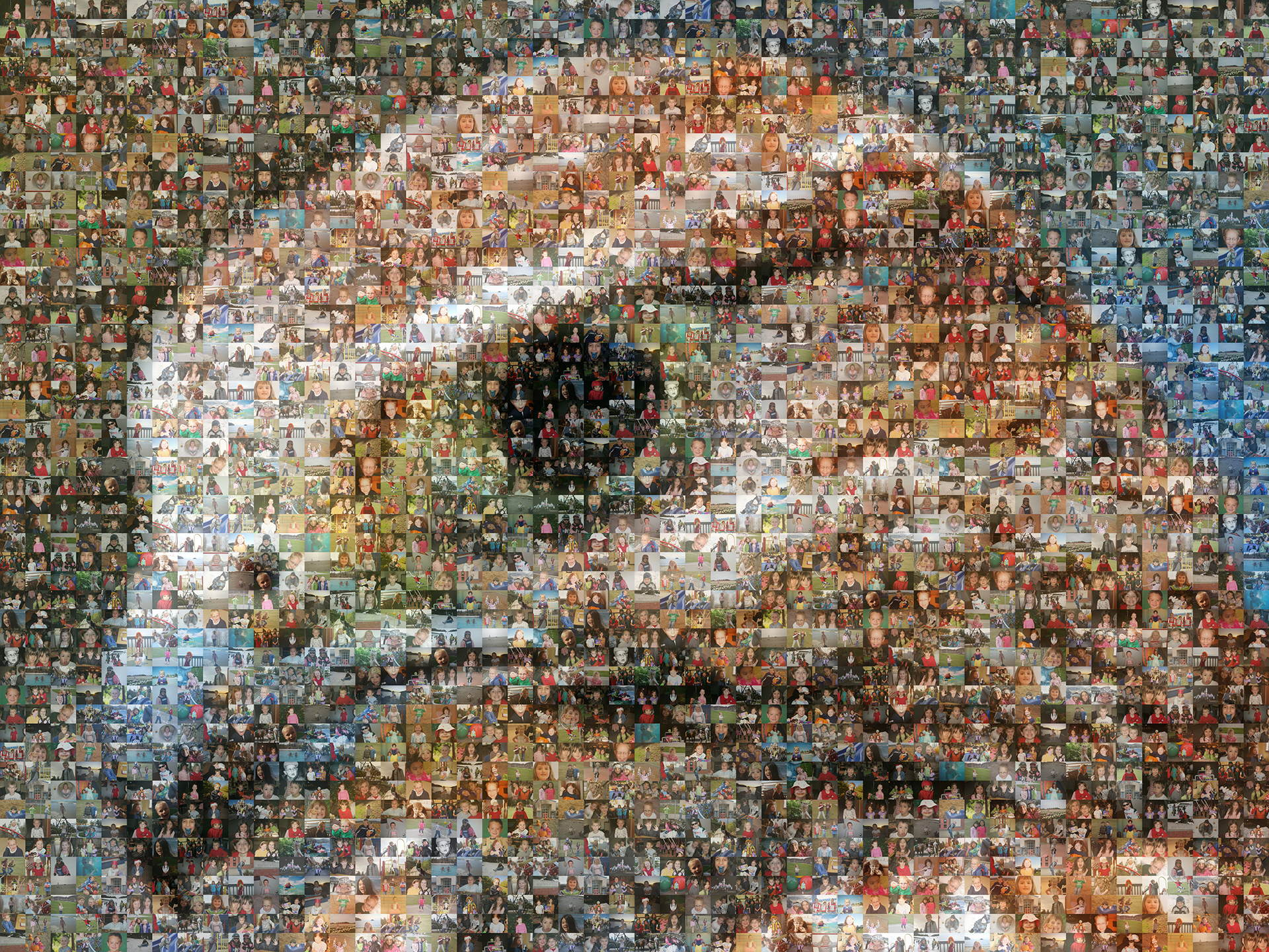 photo mosaic created using 200 student photos
