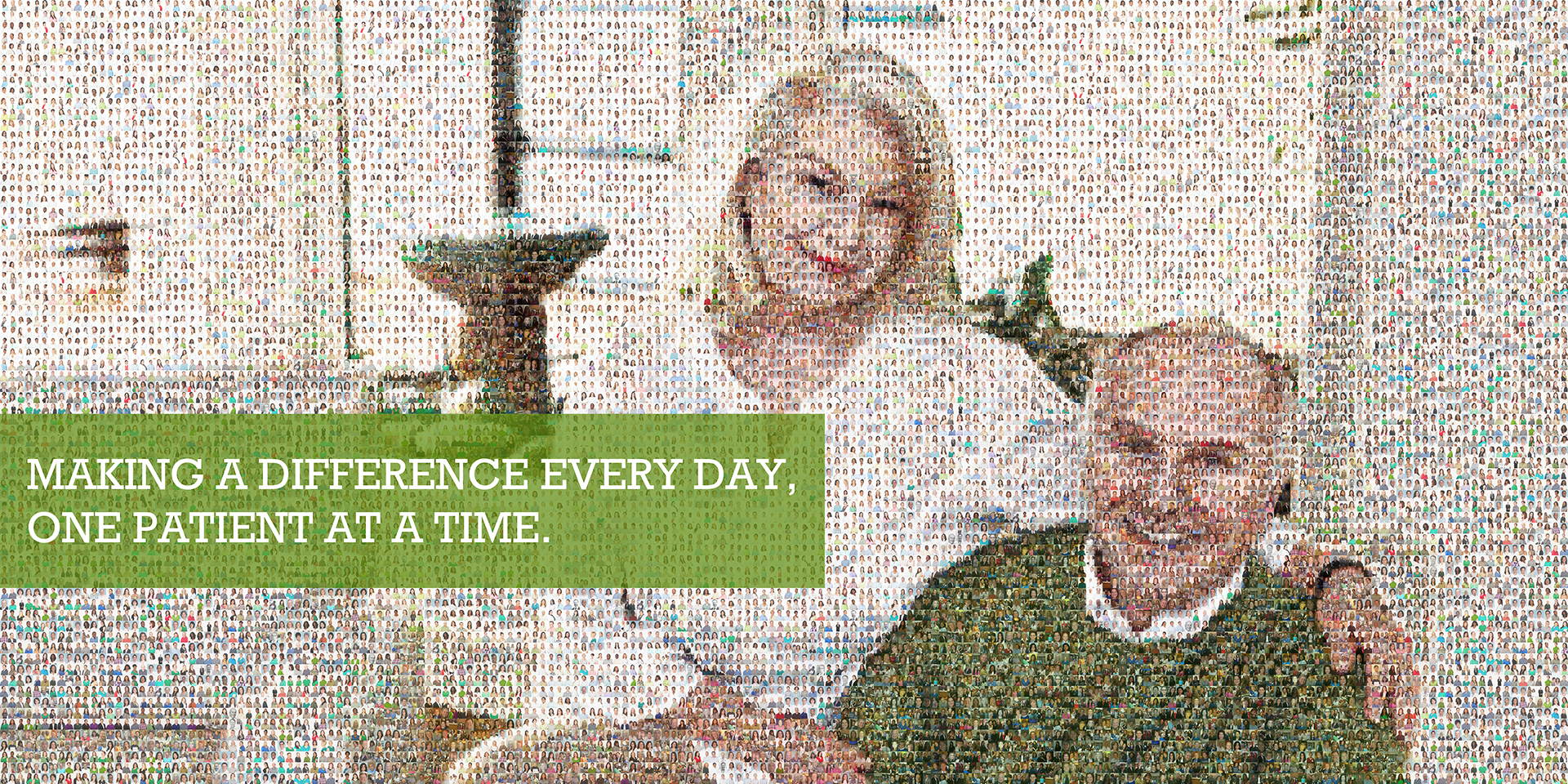 photo mosaic created using almost 1,500 company portraits