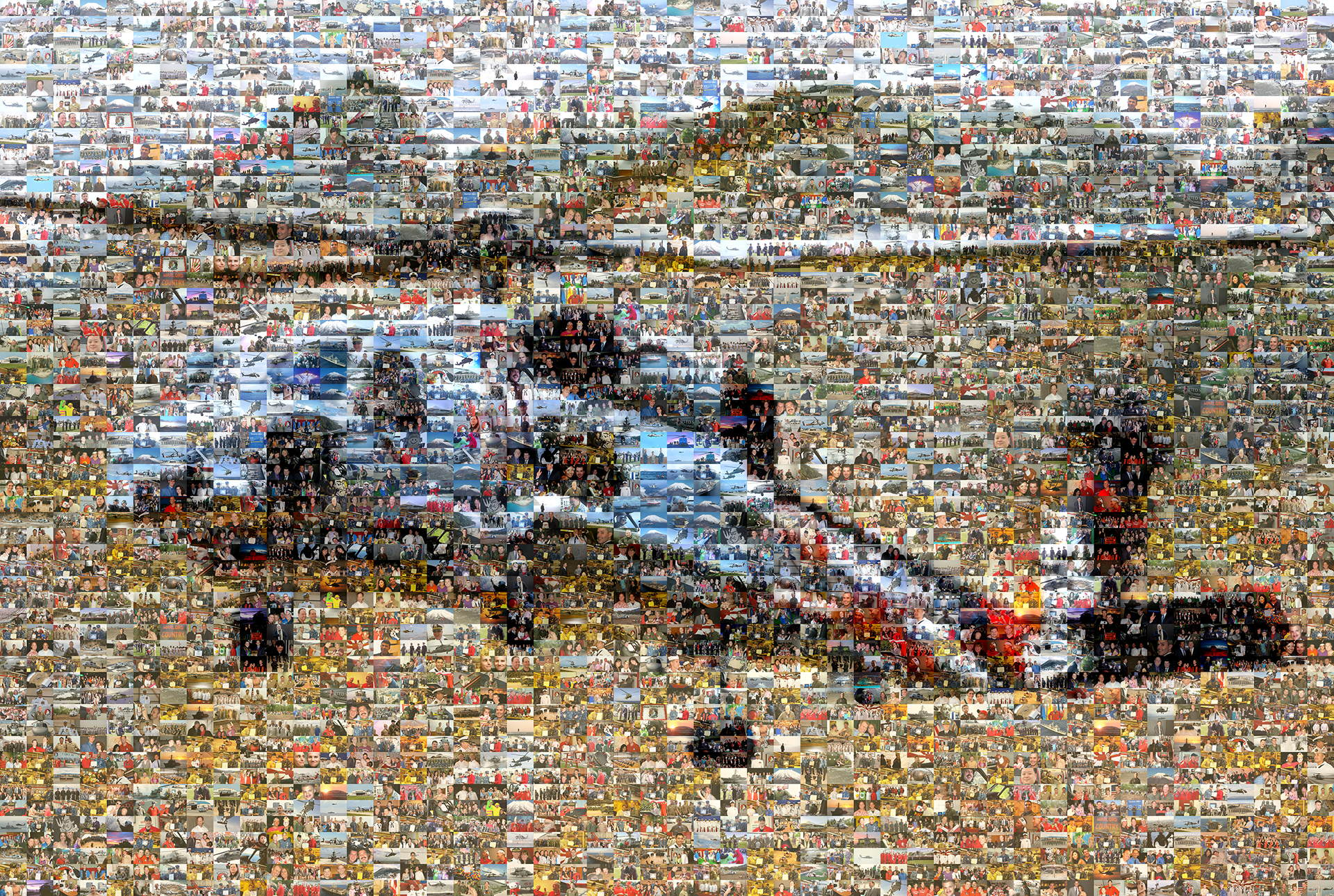 photo mosaic created using 786 custom photos