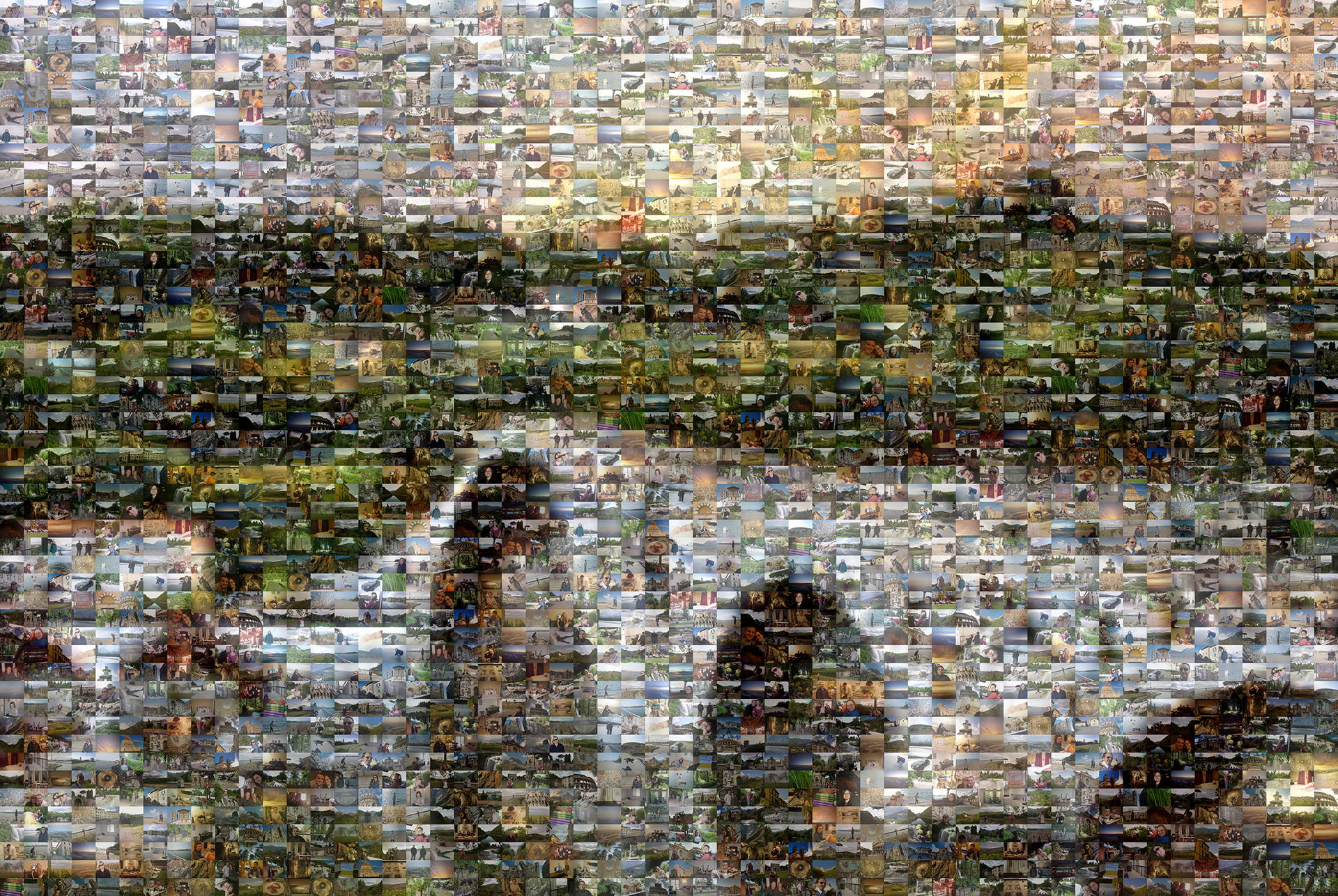 photo mosaic created using 307 travel photos