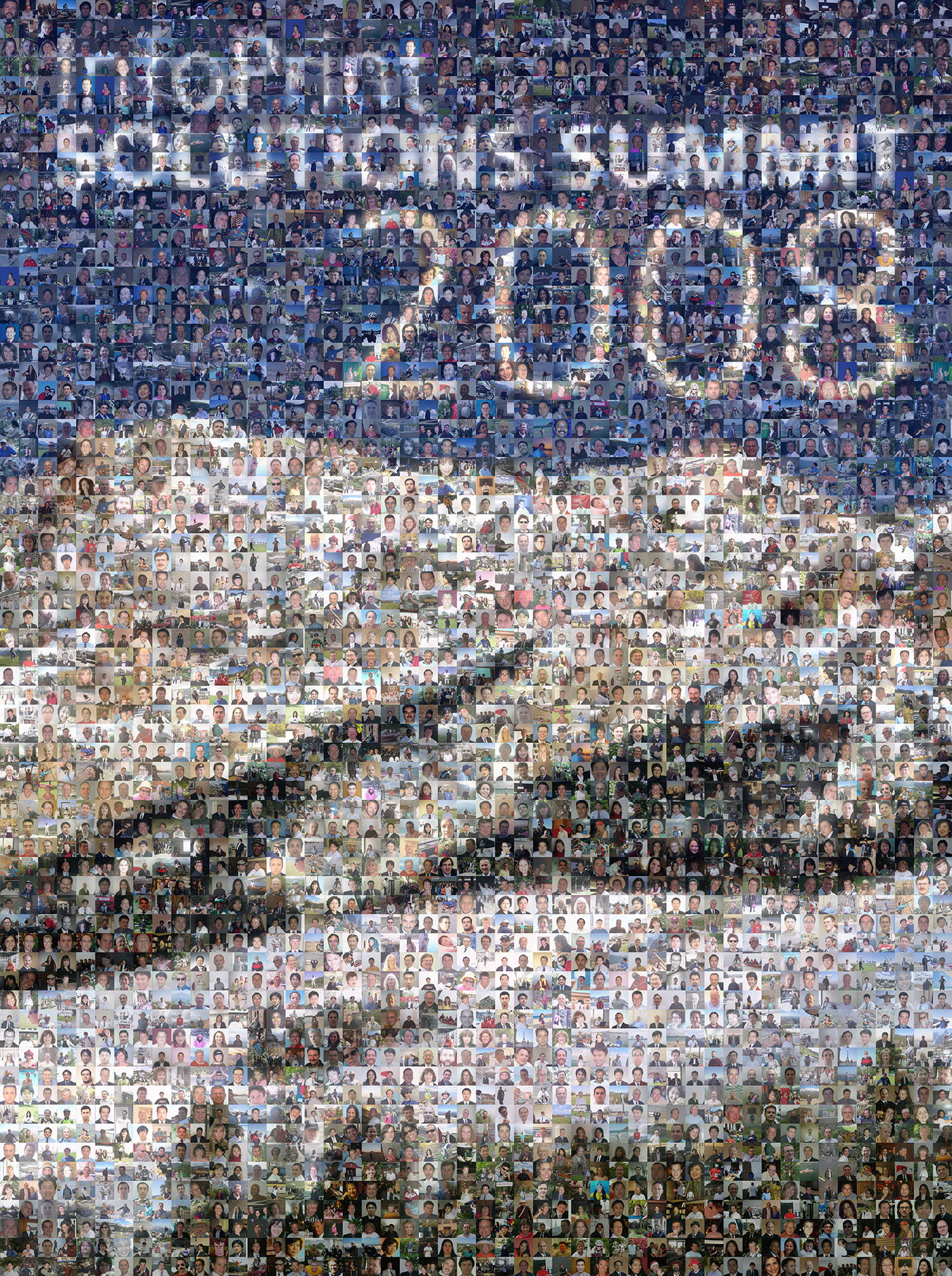 photo mosaic 18' x 24' poster created using over 1600 employee submitted photos