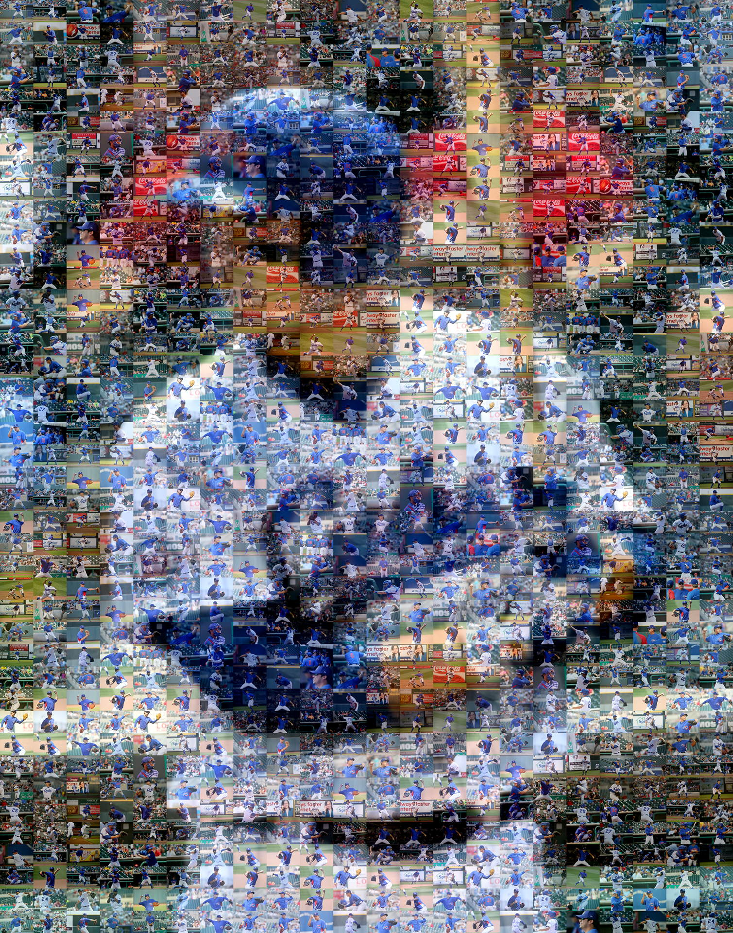 photo mosaic created using 203 photos of the Iowa Cubs